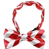Mirage Pet Products Dog Bow Tie Red Chevron