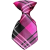 Mirage Pet Products Dog Neck Tie Plaid Pink