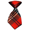 Mirage Pet Products Dog Neck Tie Plaid Red