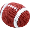 Mirage Pet Products Knit Knacks Snap the Football Organic Cotton Small Dog Toy
