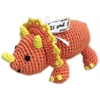Mirage Pet Products Knit Knacks Bop the Triceratops Organic Cotton Small Dog Toy