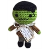 Mirage Pet Products Knit Knacks Franky The monster Organic Cotton Small Dog Toy