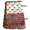 Mirage Pet Products Luxurious Plush Pet Blanket Fall Party Dots 1/2 Size