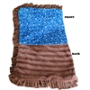 Mirage Pet Products Luxurious Plush Pet Blanket Blue Western 1/2 Size