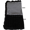 Mirage Pet Products Luxurious Plush Pet Blanket Black Chevron Full Size