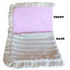 Mirage Pet Products Luxurious Plush Pet Blanket Pink Chevron 1/2 Size