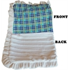 Mirage Pet Products Luxurious Plush Pet Blanket Aqua Plaid 1/2 Size