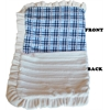 Mirage Pet Products Luxurious Plush Pet Blanket Blue Plaid 1/2 Size