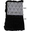 Mirage Pet Products Luxurious Plush Pet Blanket Fancy Black 1/2 Size