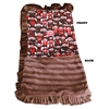 Mirage Pet Products Luxurious Plush Pet Blanket Funky Monkey 1/2 Size