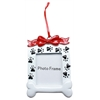 Mirage Pet Products Paw Print Picture Frame Christmas Ornament
