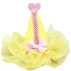 Mirage Pet Products Pretty Party Hat Clip-on Yellow