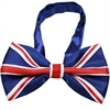 Mirage Pet Products Big Dog Bow Tie British Flag
