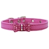 Mirage Pet Products Bow-dacious Crystal Dog Collar Bright Pink Size 16