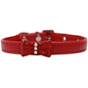 Mirage Pet Products Bow-dacious Crystal Dog Collar Red Size 16