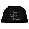Mirage Pet Products Screenprint Santa Paws Pet Shirt Black XS (8)