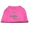 Mirage Pet Products Screenprint Santa Paws Pet Shirt Bright Pink XS (8)