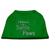 Mirage Pet Products Screenprint Santa Paws Pet Shirt Emerald Green Sm (10)