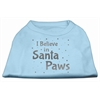 Mirage Pet Products Screenprint Santa Paws Pet Shirt Baby Blue XS (8)