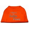 Mirage Pet Products Screenprint Santa Paws Pet Shirt Orange XS (8)