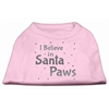 Mirage Pet Products Screenprint Santa Paws Pet Shirt Light Pink XS (8)