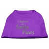 Mirage Pet Products Screenprint Santa Paws Pet Shirt Purple XS (8)