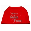 Mirage Pet Products Screenprint Santa Paws Pet Shirt Red XS (8)