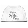 Mirage Pet Products Screenprint Santa Paws Pet Shirt White XXL (18)