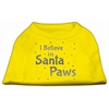 Mirage Pet Products Screenprint Santa Paws Pet Shirt Yellow Lg (14)