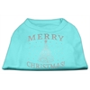 Mirage Pet Products Shimmer Christmas Tree Pet Shirt Aqua XXL (18)