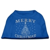 Mirage Pet Products Shimmer Christmas Tree Pet Shirt Blue XXL (18)