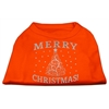 Mirage Pet Products Shimmer Christmas Tree Pet Shirt Orange Med (12)