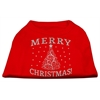 Mirage Pet Products Shimmer Christmas Tree Pet Shirt Red XXXL (20)