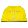 Mirage Pet Products Shimmer Christmas Tree Pet Shirt Yellow XXXL (20)
