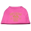 Mirage Pet Products Golden Christmas Present Dog Shirt Bright Pink XS (8)