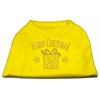 Mirage Pet Products Golden Christmas Present Dog Shirt Yellow Lg (14)