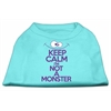 Mirage Pet Products Keep Calm Screen Print Dog Shirt Aqua Lg (14)