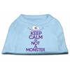 Mirage Pet Products Keep Calm Screen Print Dog Shirt Baby Blue XS (8)