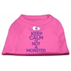 Mirage Pet Products Keep Calm Screen Print Dog Shirt Bright Pink XL (16)