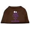 Mirage Pet Products Keep Calm Screen Print Dog Shirt Brown Lg (14)