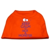 Mirage Pet Products Keep Calm Screen Print Dog Shirt Orange Med (12)