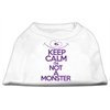 Mirage Pet Products Keep Calm Screen Print Dog Shirt White Sm (10)