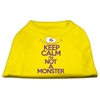 Mirage Pet Products Keep Calm Screen Print Dog Shirt Yellow Lg (14)