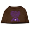 Mirage Pet Products Smallest Things Screen Print Dog Shirt Brown XS (8)