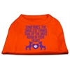 Mirage Pet Products Smallest Things Screen Print Dog Shirt Orange Lg (14)