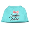 Mirage Pet Products Ladies Man Screen Print Dog Shirt Aqua XS (8)