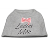 Mirage Pet Products Ladies Man Screen Print Dog Shirt Grey XS (8)