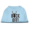 Mirage Pet Products Buck Off Screen Print Dog Shirt Baby Blue XS (8)