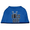 Mirage Pet Products Buck Off Screen Print Dog Shirt Blue XL (16)