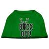 Mirage Pet Products Buck Off Screen Print Dog Shirt Green XS (8)